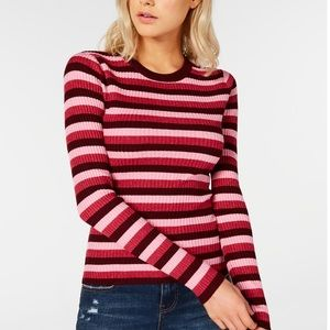 Hooked  Up by IOT Juniors Shine Striped Sweater